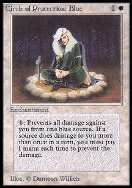 Circulo de proteccion: azul