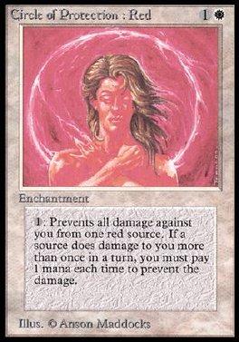 Circulo de proteccion: rojo