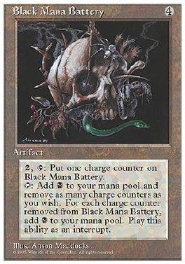 Bateria de mana negro
