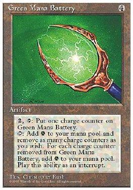 Bateria de mana verde