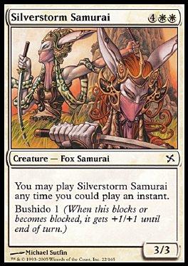 Samurai tormenta plateada