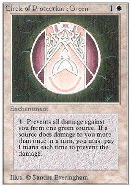 Circulo de proteccion: verde